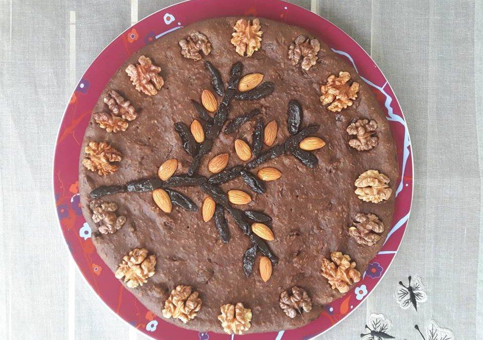 Pyszne brownie z czarnej soczewicy beluga a'la mazurek
